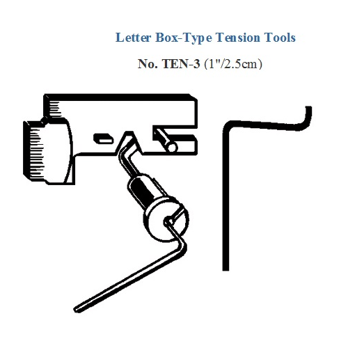 LETTER BOX TENSION TOOL 1 - HP TEN-3 on