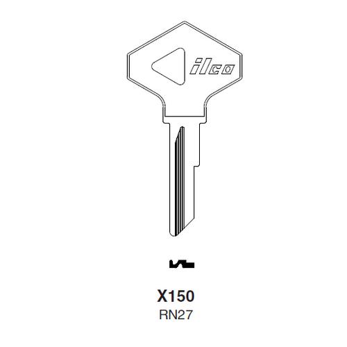 Ilco X150 (RN27) Key Blank : American Motors, Jeep, Renualt