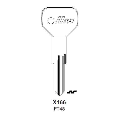 Ilco X166 (FT48) Key Blank : Alfa Romeo