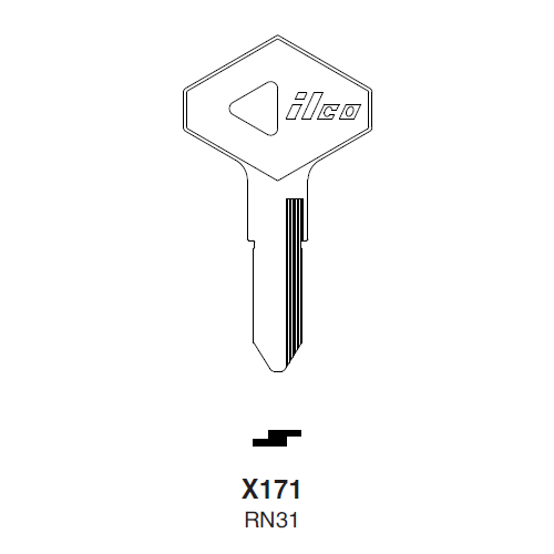 Ilco X171 (RN31) Key Blank : American Motors, Jeep, Renualt