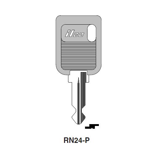 Ilco  RN24-P Alfa Romeo, Renault Plastic Head Key Blank; ( RN24,  X116 )