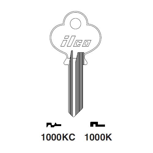 Ilco 1000K Key Blank : CCL - S1-96-5