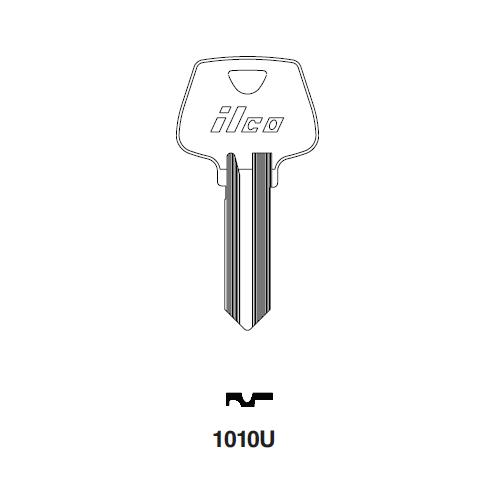 Ilco 1010U, S4 Key Blank : Sargent - 265U