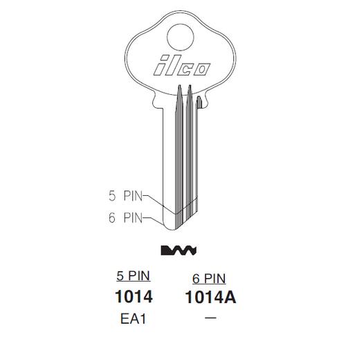 Ilco 1014, EA1 Key Blank : Eagle Lock