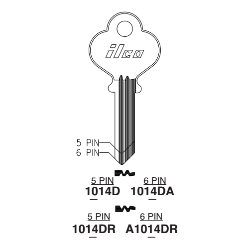 Ilco 1014DA Key Blank : Eagle Lock