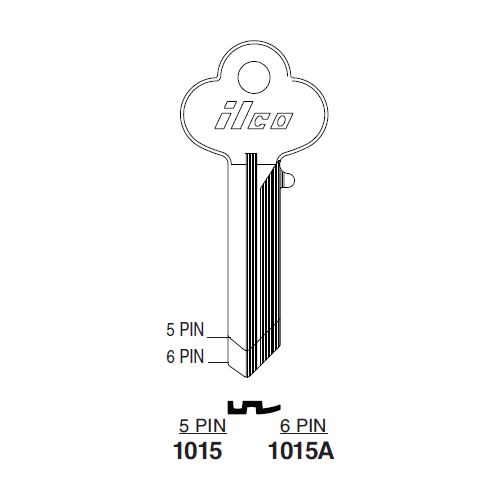 Ilco 1015 Key Blank : Lockwood - 50
