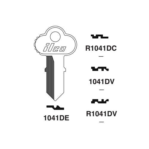 Ilco 1041DE Key Blank : Chicago - K40