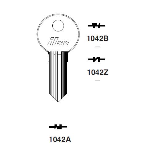 Ilco 1042Z Key Blank : Illinois - 220