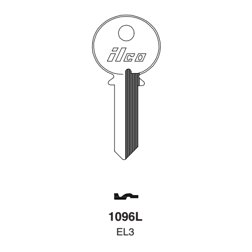 Ilco 1096L, EL3 Key Blank : Elgin