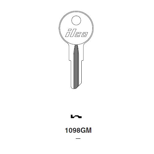 Ilco 1098GM Key Blank : Strattec (B&S)