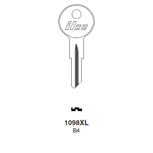 Ilco 108XL Key Blank : Strattec (B&S),  Freightliner, Misc. Switches (B4) Key Blank : Strattec (B&S)