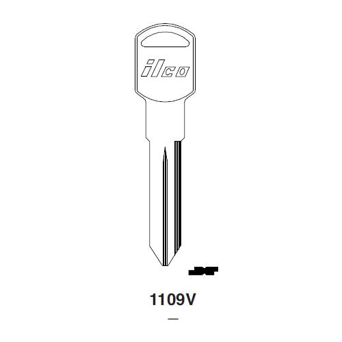Ilco 1109V Key Blank : General Motors