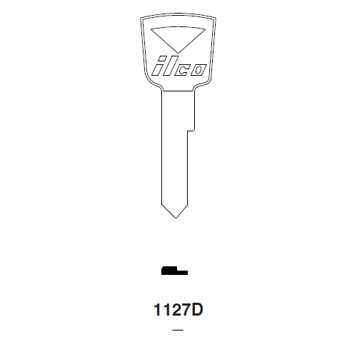 Ilco 1127D Key Blank : Ford