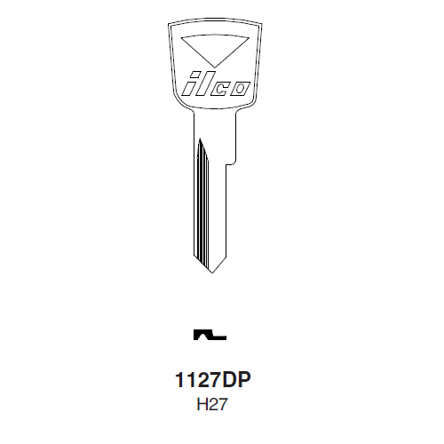 Ilco 1127DP (H27) Key Blank : Ford