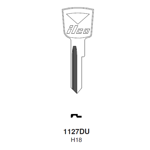 Ilco 1127DU (H18) Key Blank : Ford