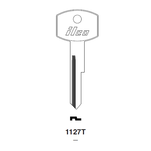 Ilco 1127T Key Blank : Ford