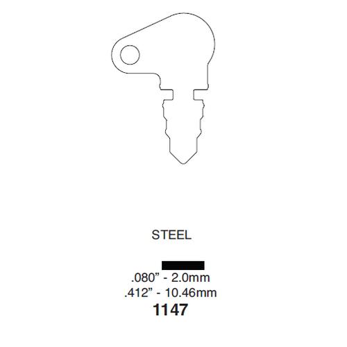 Ilco 1147 Key Blank : Yard Tractor Switch