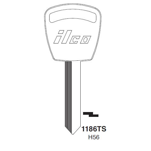 Ilco 1186TS, 1186TS-P (H56) Key Blank : Ford