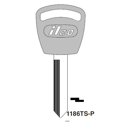 Ilco  1186TS-P Ford Plastic Head Key Blank; ( H56,  1186TS )