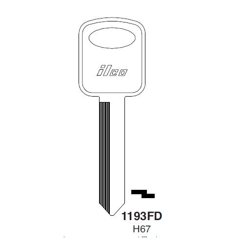 Ilco 1193FD, H76-P (H67) Key Blank : Ford