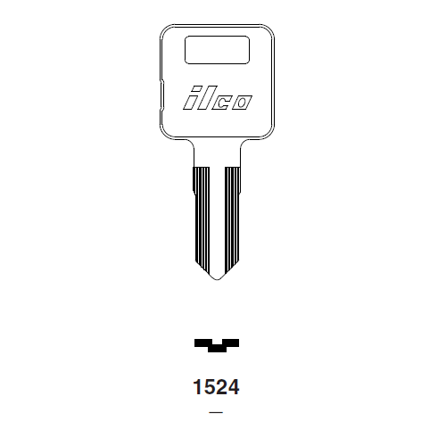 Ilco 1524 Key Blank : Grumman Long Life Vehicle (Post Office)