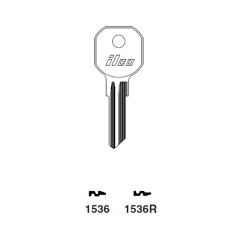 Ilco 1536R Key Blank : Tool Box