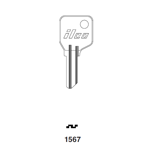 Ilco 1567 Key Blank : Kryptonite