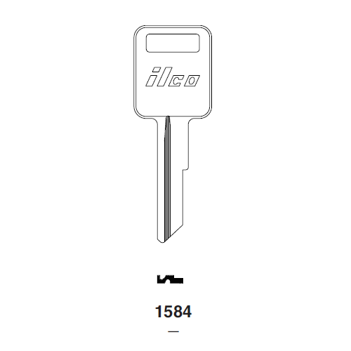Ilco 1584 Key Blank : Freightliner