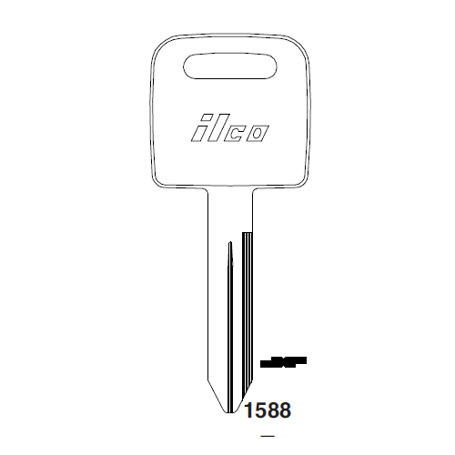 Ilco 1588 Key Blank : Freightliner