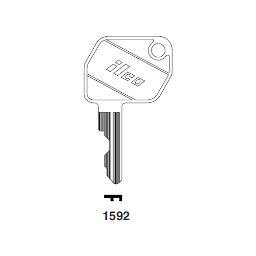 Ilco 1592 Key Blank : Ford Tractor