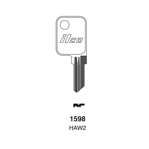 Ilco 1598, HAW2 Key Blank : Haworth