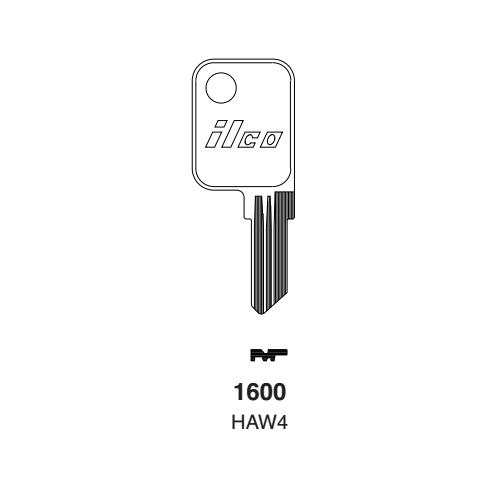 Ilco 1600, HAW4 Key Blank : Haworth