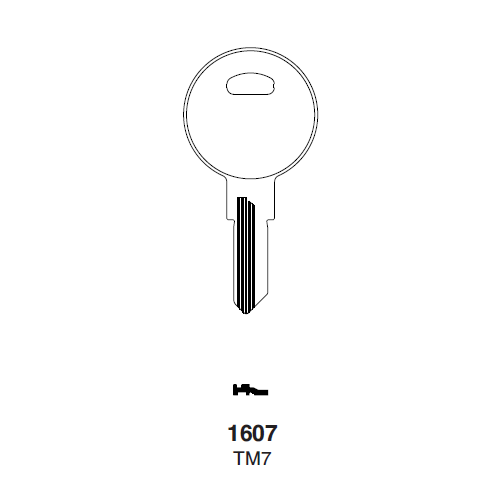 Ilco 1607, TM7 Key Blank : Trimark - 14472-09-2001 | North