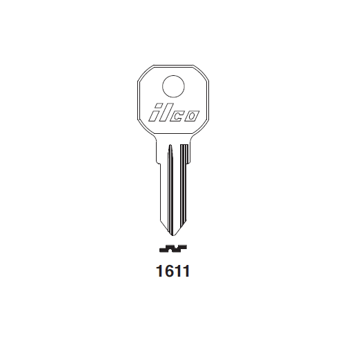 Ilco 1611 Key Blank : Gas Cap Lock
