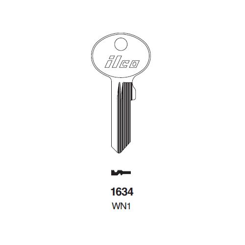 Ilco 1634, WN1 Key Blank : Wind