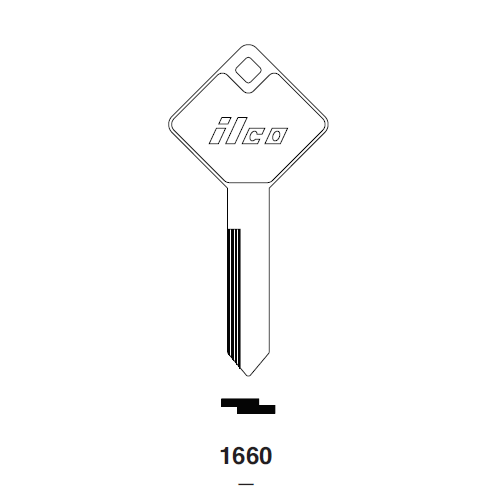 Ilco 1660 Key Blank : Ford Truck Cover