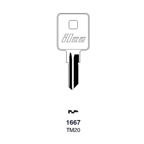 Ilco 1667, TM20 Key Blank : Trimark - 14472-02-2001