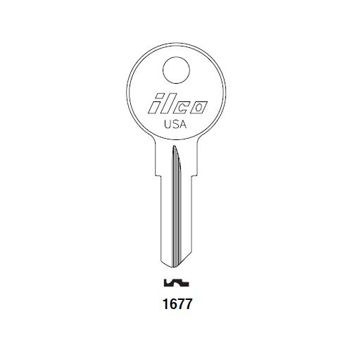 Ilco 1677 Key Blank : E-Z -GO