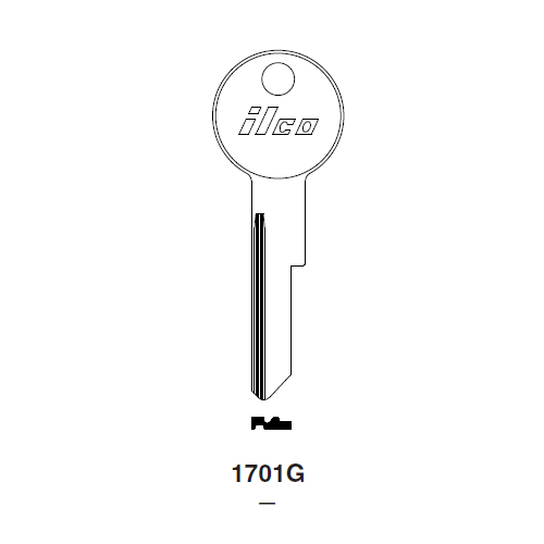 Ilco 1701G Key Blank : Chrysler