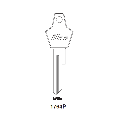 Ilco 1764P Key Blank : Chrysler