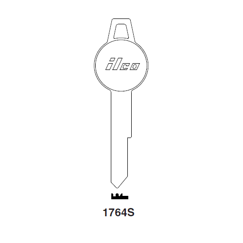 Ilco 1764S Key Blank : Chrysler