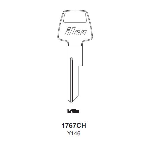 Ilco 1767CH (Y146) Key Blank : Chrysler