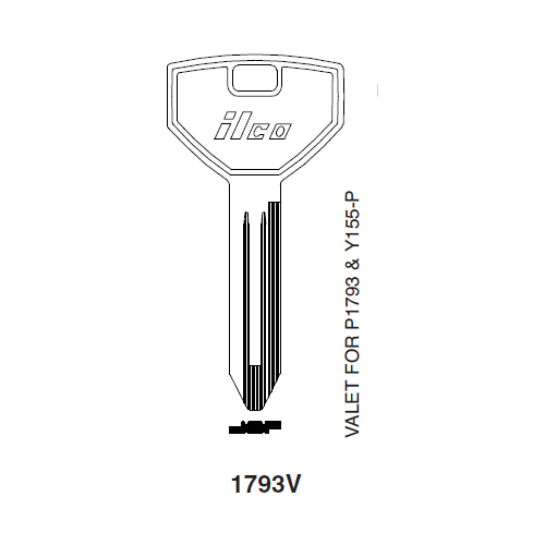 Ilco 1793V Key Blank : Chrysler
