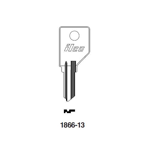 Ilco 1866-13 Key Blank : Pundra