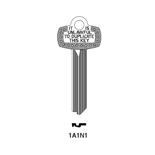 Ilco A1114N  1A1N1 Key Blank : Best - 1A1N1