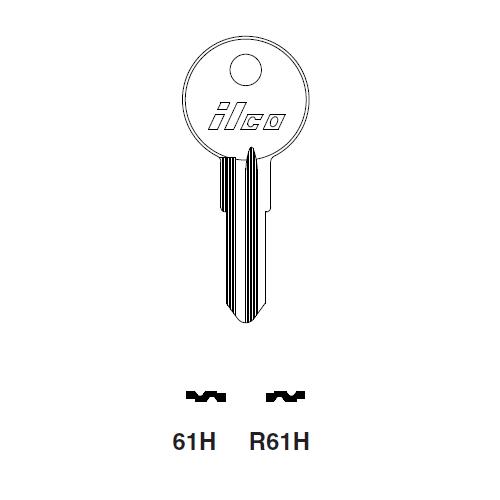 Ilco 61H Key Blank : Alfa Romeo, Fiat, Lambretta, Lancia
