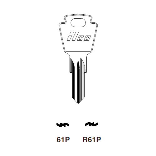 Ilco R61P Key Blank : Simca, Tablot, Matra