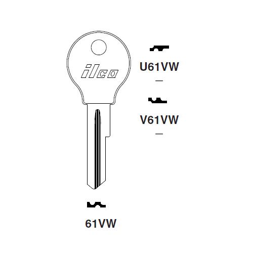 Ilco V61VW Key Blank : VW
