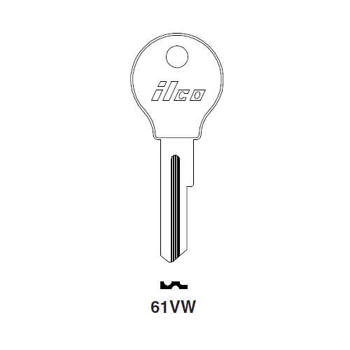 Ilco 61VW Key Blank : Opel, Porsche, VW