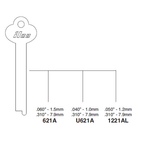 Ilco 621A Key Blank : Yale M Freightliner Wiring Schematics on